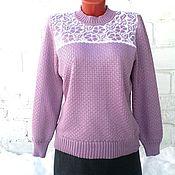 Одежда ручной работы. Ярмарка Мастеров - ручная работа Джемпер цвета розовый аметист. Handmade.