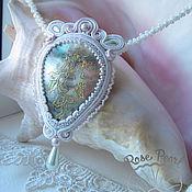 Украшения handmade. Livemaster - original item Soutache pendant with mother of pearl