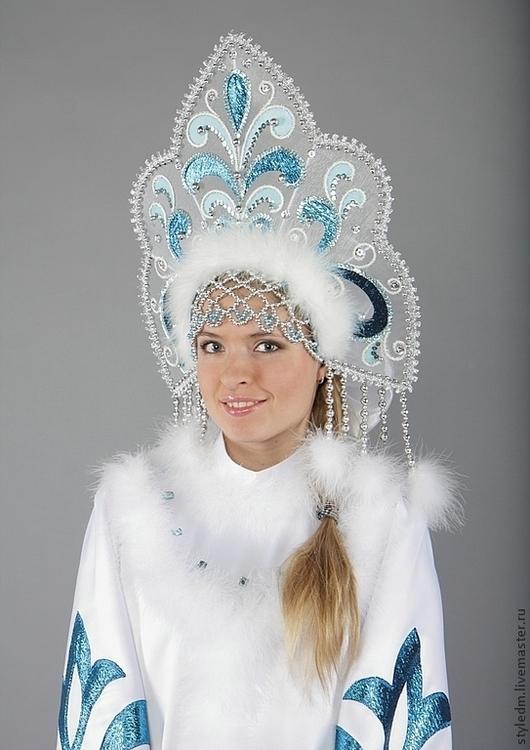 """Купить Костюм Снегурочки """"Сказочная"""" - орнамент, белый ... - photo#30"""
