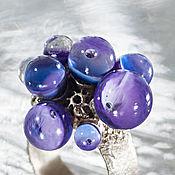 Rings handmade. Livemaster - original item Ring meadow wood violets. Handmade.
