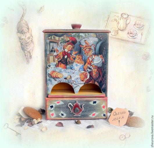 """Кухня ручной работы. Ярмарка Мастеров - ручная работа. Купить Чайный домик буфет """"Чаепитие с Алисой"""". Handmade. Разноцветный, буфет"""
