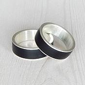 Украшения handmade. Livemaster - original item Paired rings silver with jet.. Handmade.