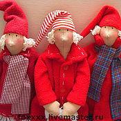 Куклы и игрушки ручной работы. Ярмарка Мастеров - ручная работа Сплюшки зимние-куклы тильды. Handmade.