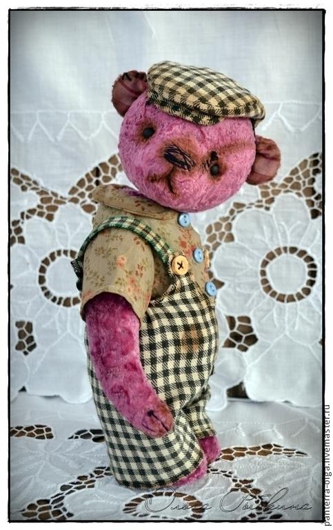 Мишки Тедди ручной работы. Ярмарка Мастеров - ручная работа. Купить авторский мишка тедди Пашка. Handmade. Брусничный