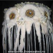 Свадебный салон ручной работы. Ярмарка Мастеров - ручная работа Пояс ремень с подвесками из норки. Handmade.
