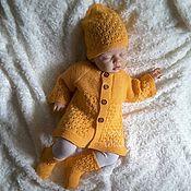 Jacket handmade. Livemaster - original item Sweater beanie knitted socks kit solar. Handmade.