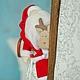 Куклы Тильды ручной работы. Санта с оленем (тильда). Юлия Симонова. Интернет-магазин Ярмарка Мастеров. Тильда, новогодний подарок