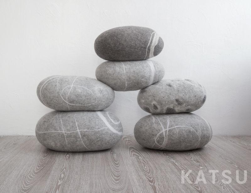 Подушка-камень. Пуф-камень, Подушки, Санкт-Петербург, Фото №1