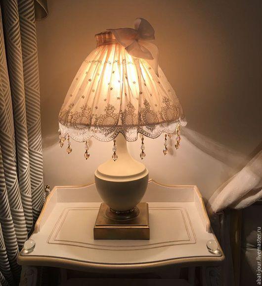 Детская ручной работы. Ярмарка Мастеров - ручная работа. Купить лампа для детской. Handmade. Бежевый, реставрация, французское кружево