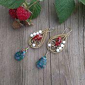 Украшения handmade. Livemaster - original item Drop earrings bright. Handmade.