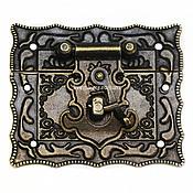Элементы для декупажа и росписи ручной работы. Ярмарка Мастеров - ручная работа Замок для шкатулки и сундука 65х55 арт. З-8 бронза. Handmade.