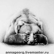 Картины и панно ручной работы. Ярмарка Мастеров - ручная работа Медведь 5-й. Handmade.