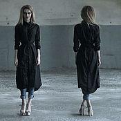Одежда ручной работы. Ярмарка Мастеров - ручная работа Платье-рубашка длинная. Handmade.