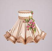 """Для дома и интерьера ручной работы. Ярмарка Мастеров - ручная работа Классический абажур """"Жаклин"""" с вышивкой для настольной лампы. Handmade."""