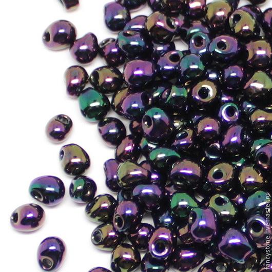 Для украшений ручной работы. Ярмарка Мастеров - ручная работа. Купить MIYUKI drops 3,4mm 454 purple iris Миюки капельки 10гр.. Handmade.