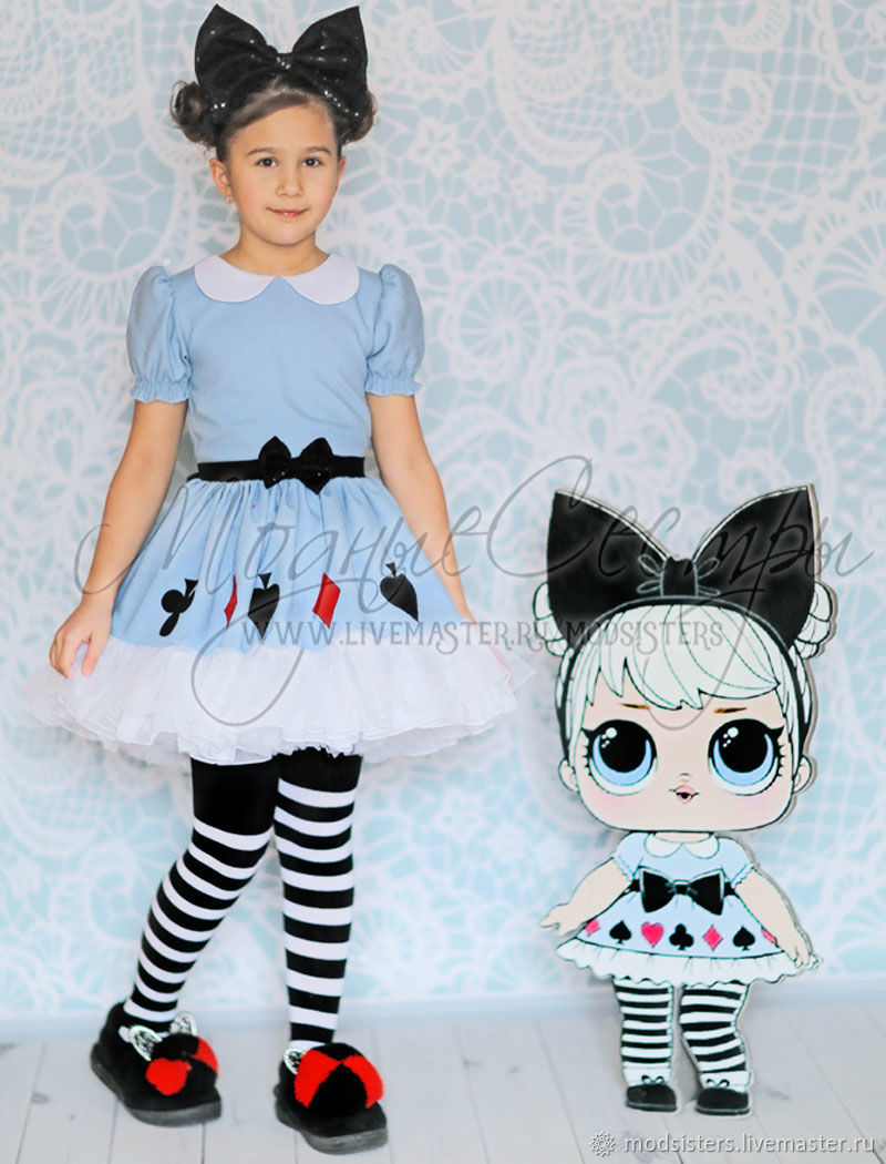 Костюм куклы  Лол Алиса (Lol Surprise Alice) Арт. 497
