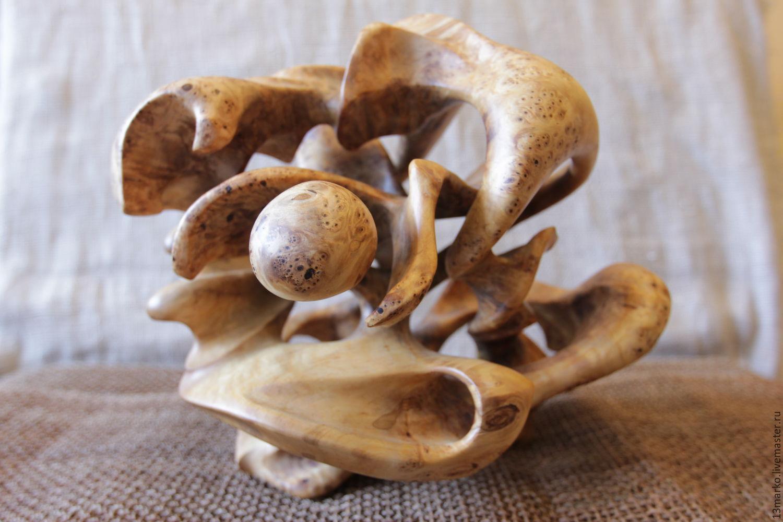 Интерьерная ваза из капа березы