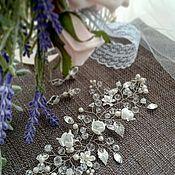 Свадебный салон ручной работы. Ярмарка Мастеров - ручная работа Украшение веточка для свадебной прически. Handmade.