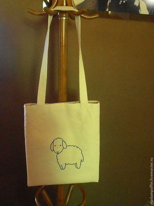 """Сумки и аксессуары ручной работы. Ярмарка Мастеров - ручная работа. Купить экосумка """"Овечка Нюся"""". Handmade. Овечка, год овцы"""