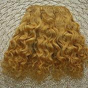 Материалы для творчества handmade. Livemaster - original item hair pieces natural mohair (curls) gold. Handmade.