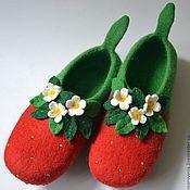 """Обувь ручной работы. Ярмарка Мастеров - ручная работа тапочки """"сладка ягодка"""". Handmade."""