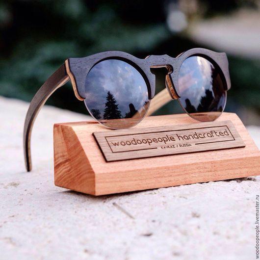 Очки ручной работы. Ярмарка Мастеров - ручная работа. Купить Деревянные солнцезащитные очки модель Vanilla. Handmade. Черный, подарок