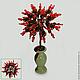 Дерево любви из черного агата и красного коралла