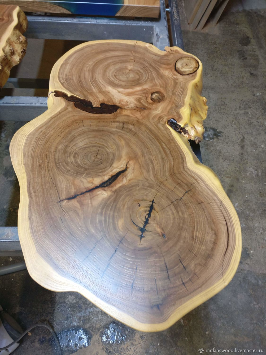 Table made of sawn wood, Tables, St. Petersburg,  Фото №1