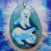 Украшения handmade. Livemaster - original item Pendants Bears in the North. Handmade.