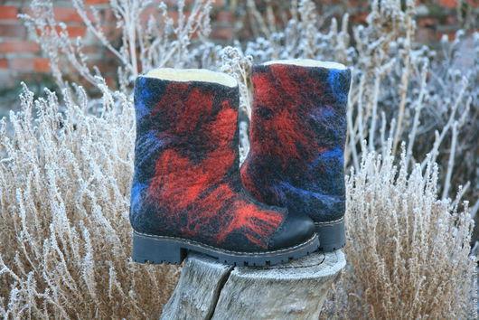 Обувь ручной работы. Ярмарка Мастеров - ручная работа. Купить Джинс. Handmade. Черный, зима, тренд, кожаный шнур