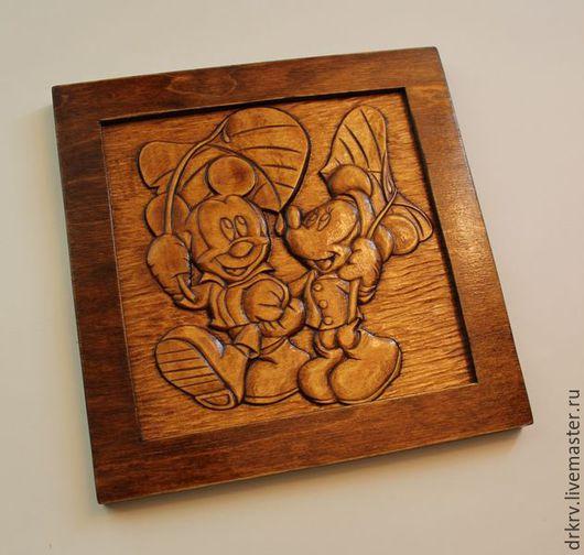 """Детская ручной работы. Ярмарка Мастеров - ручная работа. Купить Картина """"Микки-Маусы"""". Handmade. Дерево, подарок, картина, для детской"""