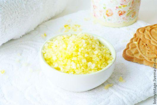 Соль для ванны ручной работы. Ярмарка Мастеров - ручная работа. Купить Печенье - соль для ванн. Handmade. Желтый, соль для ванны