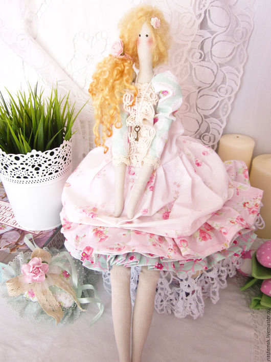 Куклы Тильды ручной работы. Ярмарка Мастеров - ручная работа. Купить Кукла текстильная в стиле Тильда Флоренц. Handmade.