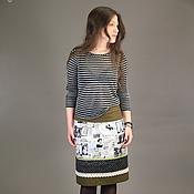 Одежда ручной работы. Ярмарка Мастеров - ручная работа юбка КАРТА ПАРИЖА. Handmade.