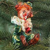 Подарки к праздникам ручной работы. Ярмарка Мастеров - ручная работа Ёлочные игрушки Клоун (фигурка). Handmade.