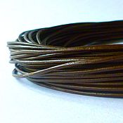Шнуры ручной работы. Ярмарка Мастеров - ручная работа Кожаный шнур 2,0мм. Handmade.