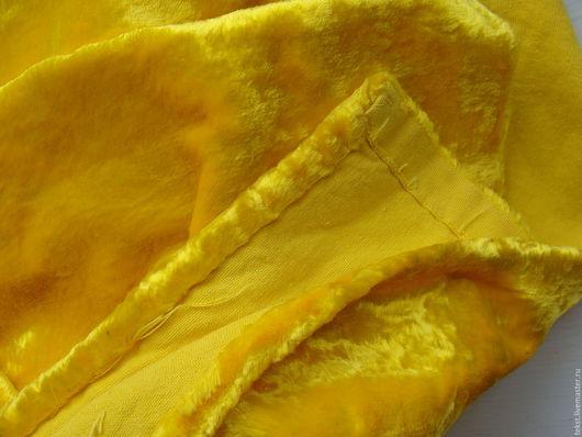 Куклы и игрушки ручной работы. Ярмарка Мастеров - ручная работа. Купить 65 х 50 см. Плюш желтый, винтаж.. Handmade.
