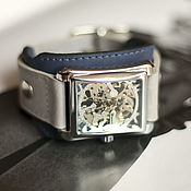 Украшения handmade. Livemaster - original item Men`s mechanical wrist watch Quadro. Handmade.