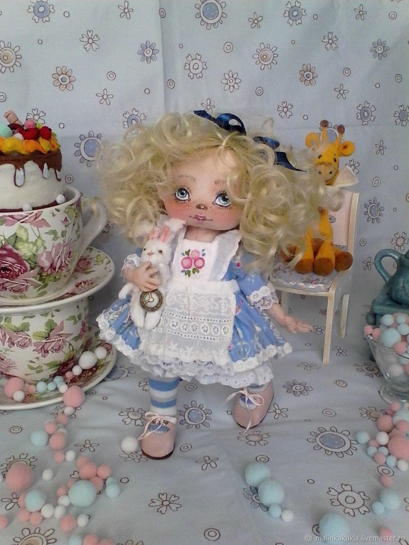 текстильная кукла Алиса. Время пить чай, Куклы и пупсы, Санкт-Петербург,  Фото №1