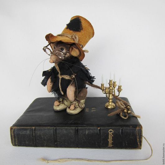 Мишки Тедди ручной работы. Ярмарка Мастеров - ручная работа. Купить Keeper of Books. Handmade. Коричневый, хранитель, канделябр