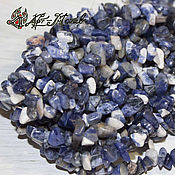 Материалы для творчества handmade. Livemaster - original item Sodalite, stone chippings, strands 20 cm (natural stone). Handmade.