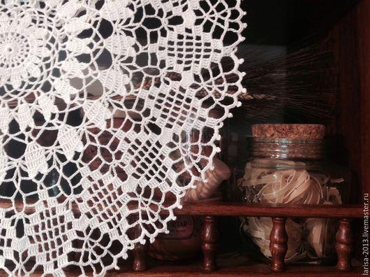 Текстиль, ковры ручной работы. Ярмарка Мастеров - ручная работа. Купить Ажурная салфетка молочного цвета. Handmade. Молочный