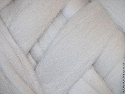 Валяние ручной работы. Ярмарка Мастеров - ручная работа. Купить Шерсть для валяния меринос 18 микрон цвет Облако (Cloud). Handmade.