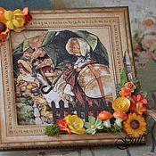"""Открытки ручной работы. Ярмарка Мастеров - ручная работа Открытка """"Осенний денёк"""". Handmade."""