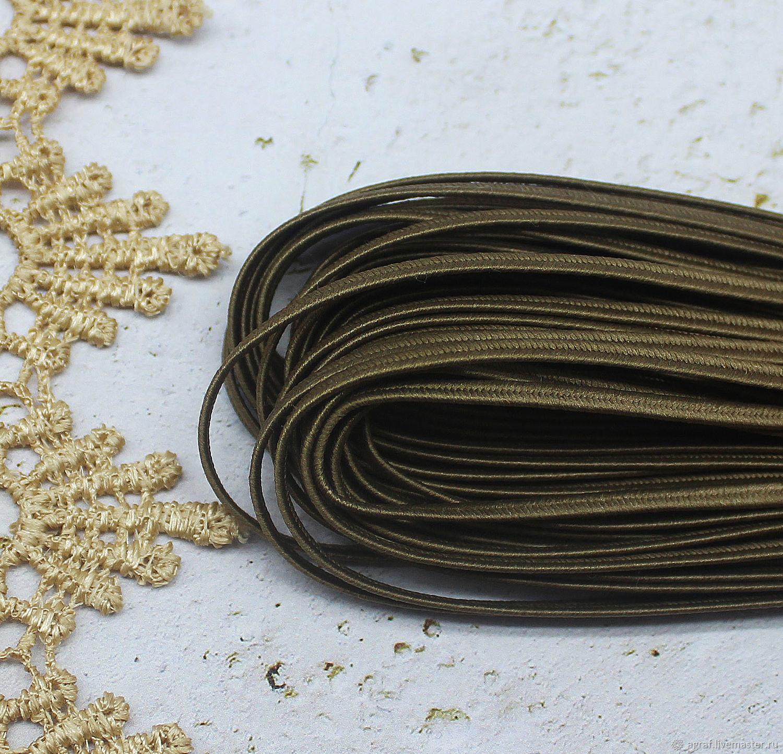Сутаж белорусский 2,5 мм Бронза 1 метр, Шнуры, Соликамск,  Фото №1