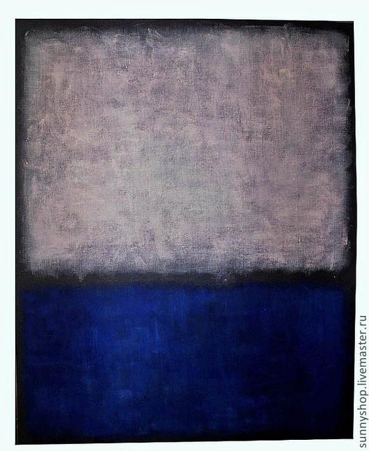 картина масло абстракция абстракционизм интерьерная картина на заказ синий серый белый прямоугольник геометрия геометрический рисунок купить картину маслом абстракция москва визун