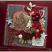 """Открытки ручной работы. Ярмарка Мастеров - ручная работа Открытка """"Новогодние подарки"""". Handmade."""