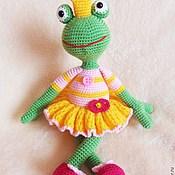 Куклы и игрушки handmade. Livemaster - original item Frog - Princess.Knitted toy.. Handmade.
