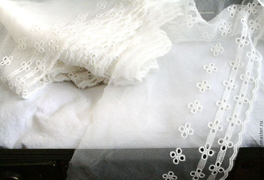 Шитье ручной работы. Ярмарка Мастеров - ручная работа. Купить № 20  Кружевное шитье на сетке.. Handmade. Молочный цвет
