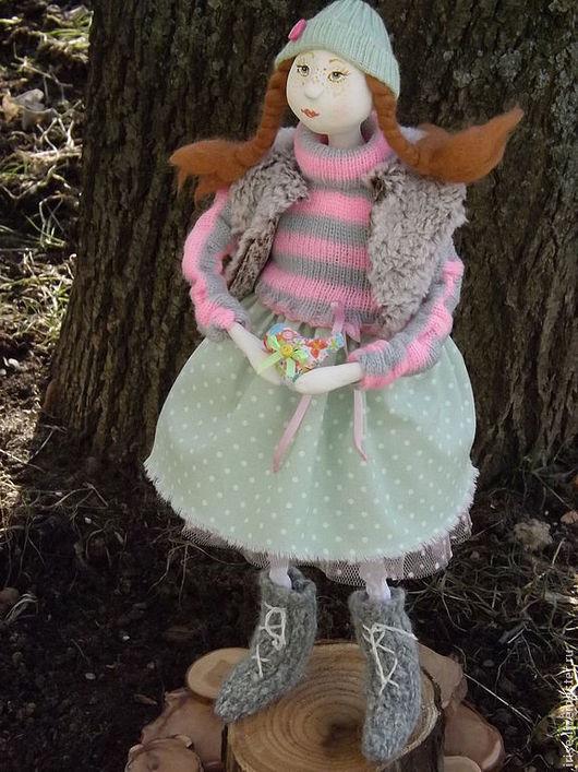 Коллекционные куклы ручной работы. Ярмарка Мастеров - ручная работа. Купить Кукла Весенняя девочка Ксюша. Handmade. Салатовый, девочка